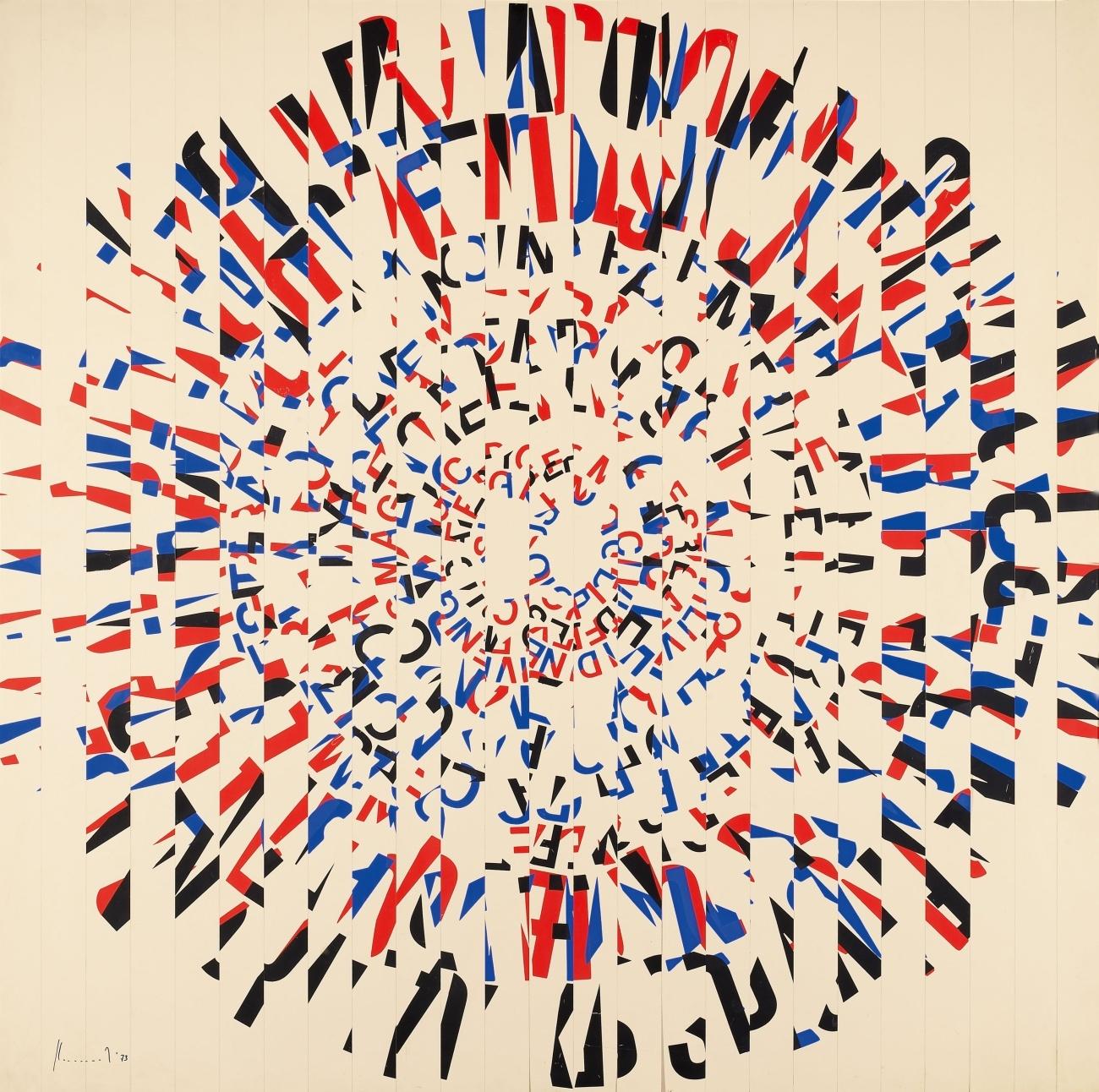 Ferdinand Kriwet, Ohne Titel (Rundschreiben), 1973