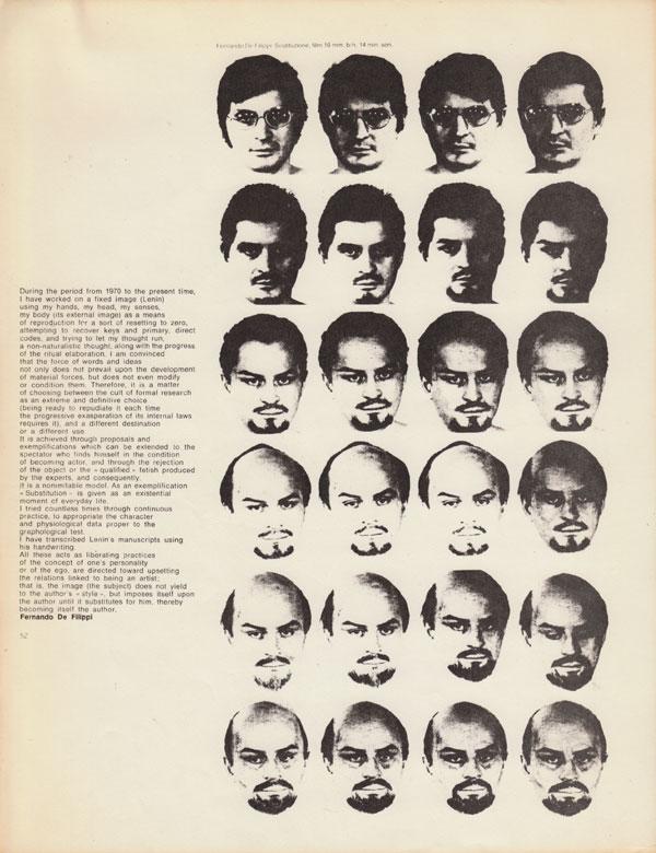 Fernando De Filippi, Sostituzione (1974)