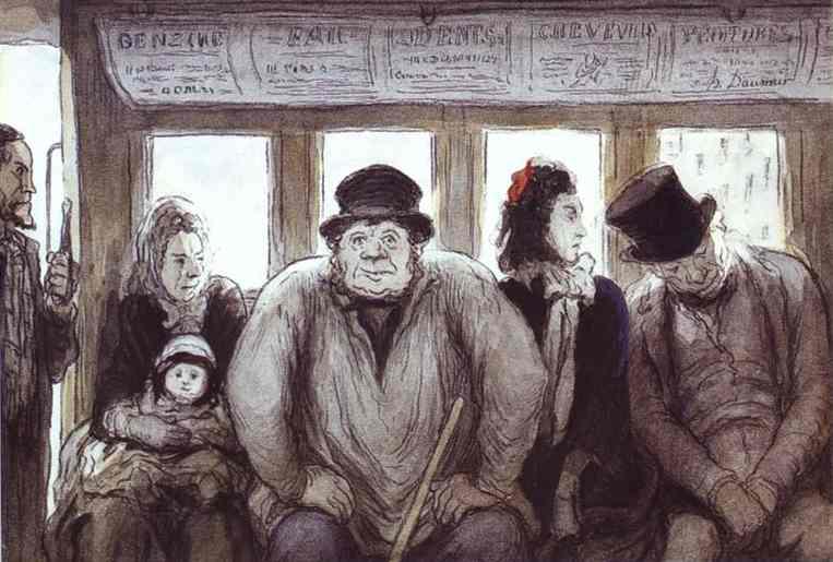 Daumier rappresenta la vita nella metropoli